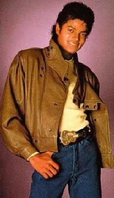 Mike with brown leather jacket (Human Nature video)